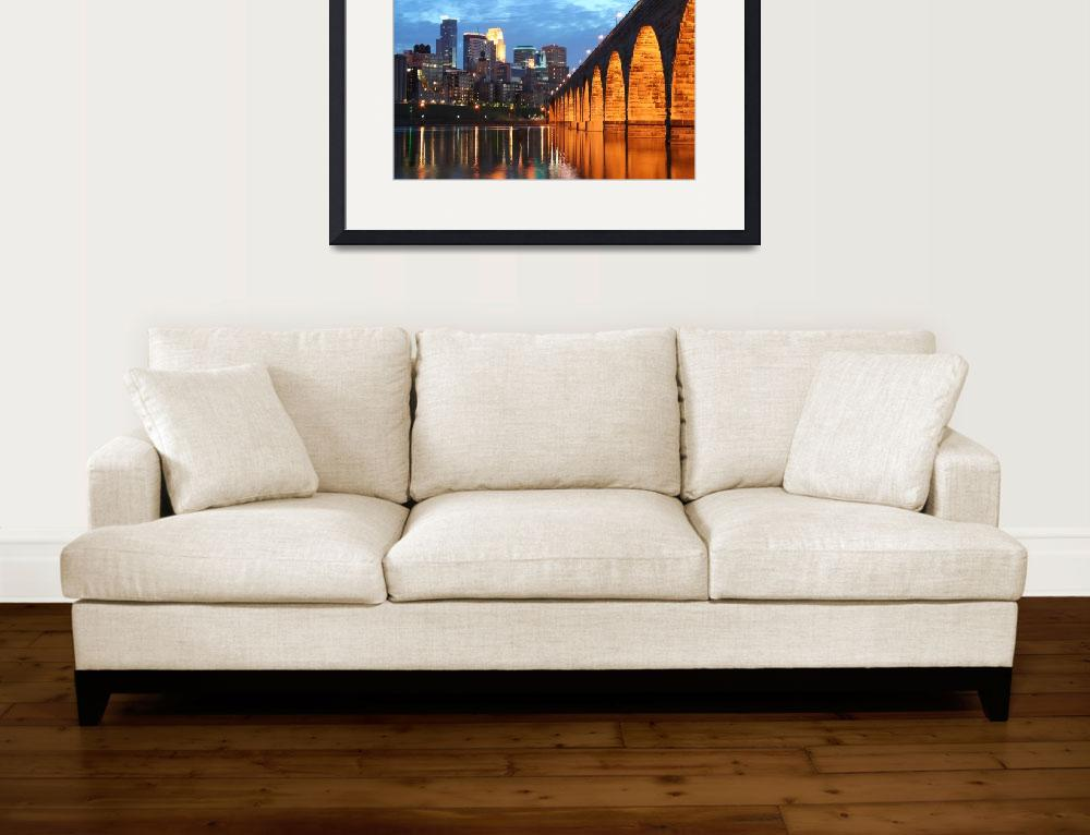 """Minneapolis Stone Arch Bridge""  (2007) by WaynePhotoGuy"
