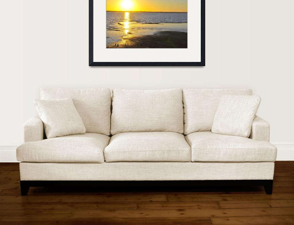 """""""Beach at Sunset, interest at left&quot  (2012) by ClarityPhotography"""