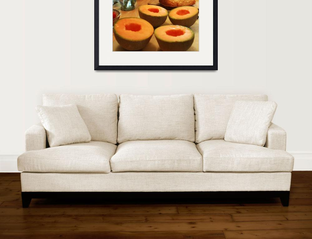 """""""Cantaloupe On Cutting Board""""  (2010) by vncstone"""