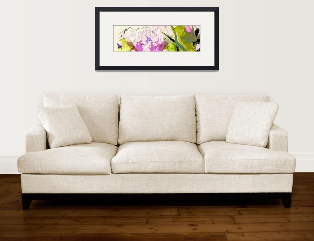 """""""Abstract Panoramic Landscape Lavender""""  (2017) by GinetteCallaway"""