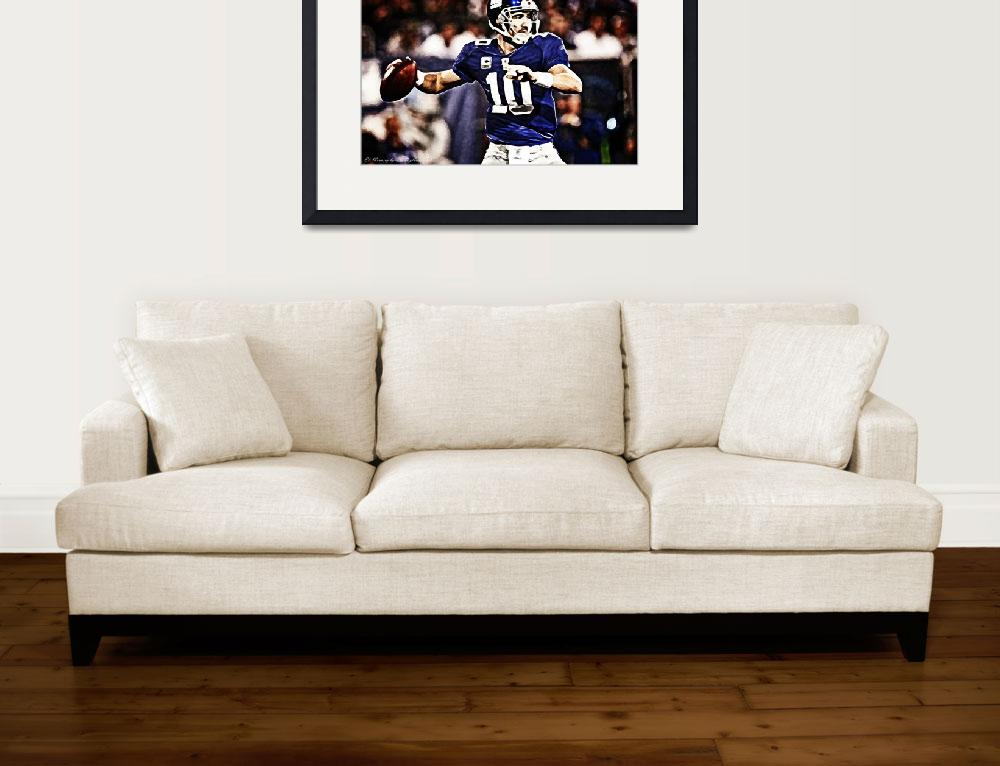 """""""NY Giants Eli Manning&quot  (2012) by D77TheDigArtisT"""