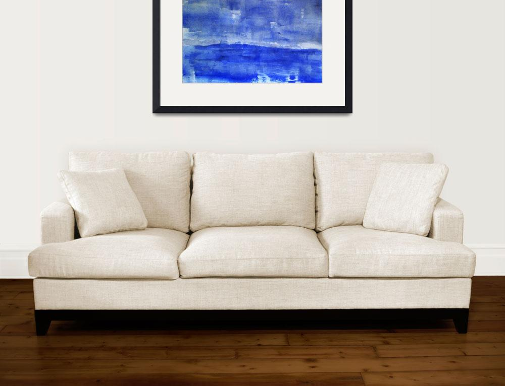 """Blank blue sea&quot  (2010) by postpainting"