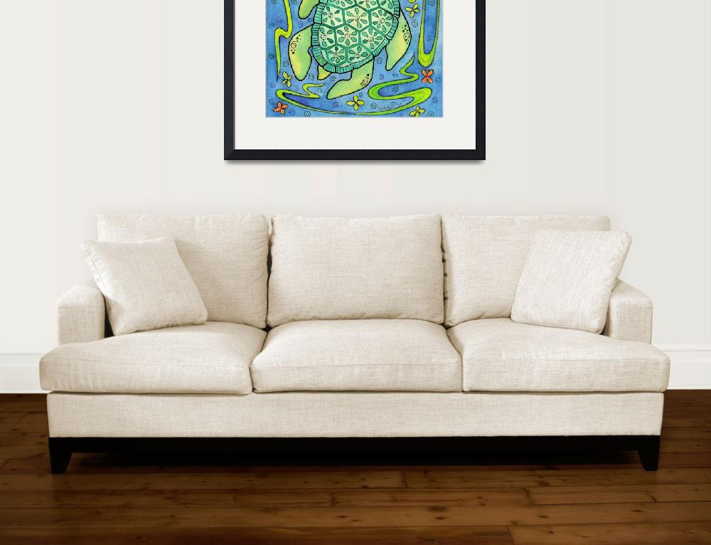"""""""Sea Turtle Jewel""""  (2009) by rmcotton"""