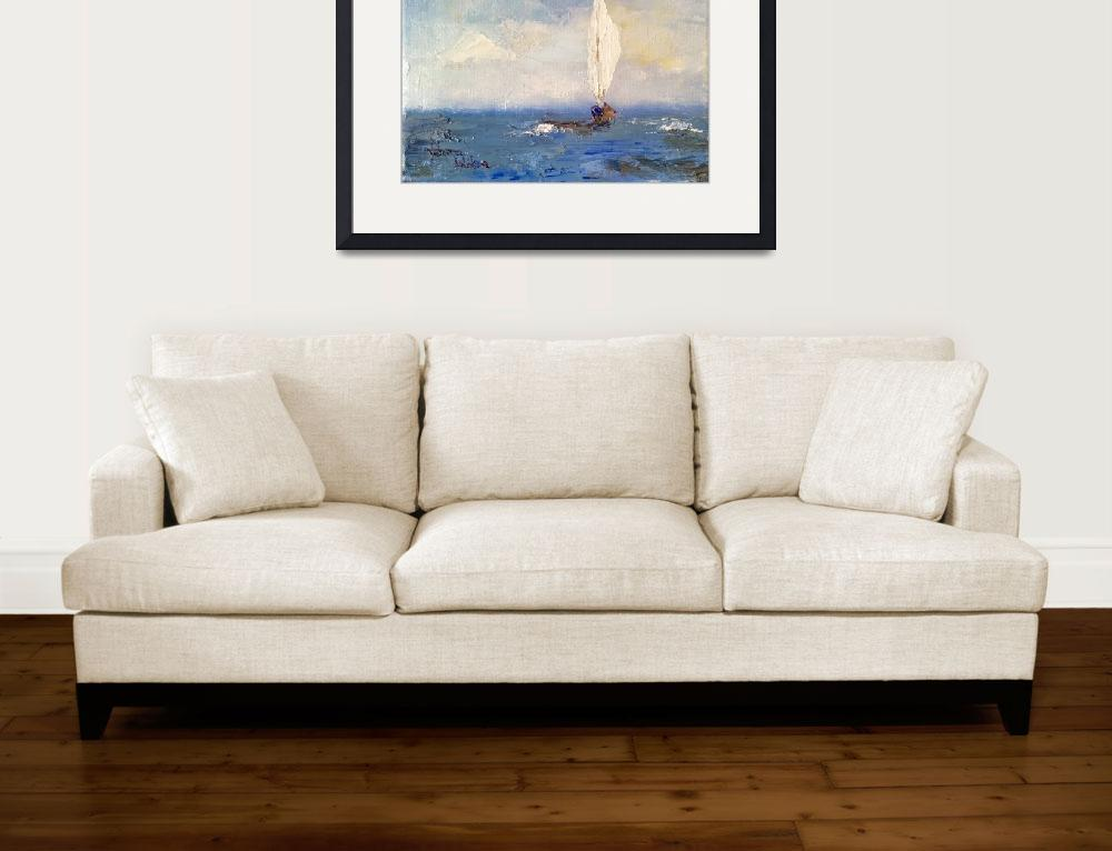 """""""Sailing, Sailing&quot  (2016) by normawilsonfineart"""