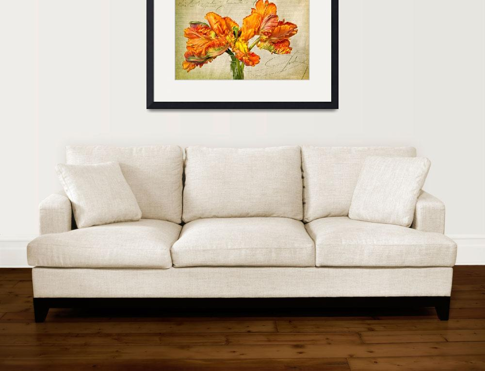 """""""Fiery Floral&quot  (2011) by LeslieNicole"""