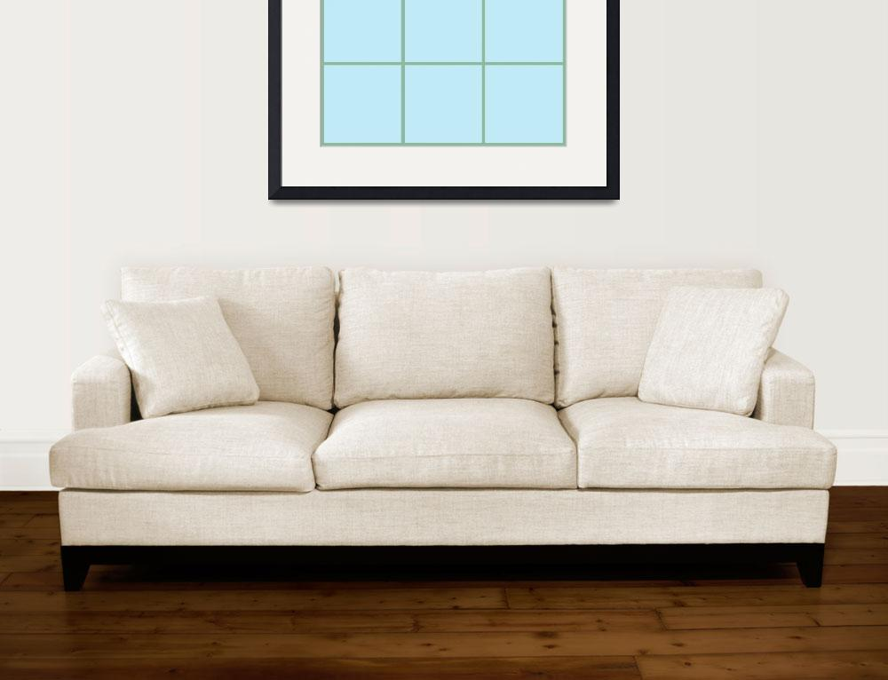 """""""Blue Window 143 Canvas Contemporary Modern&quot  (2010) by Ricardos"""