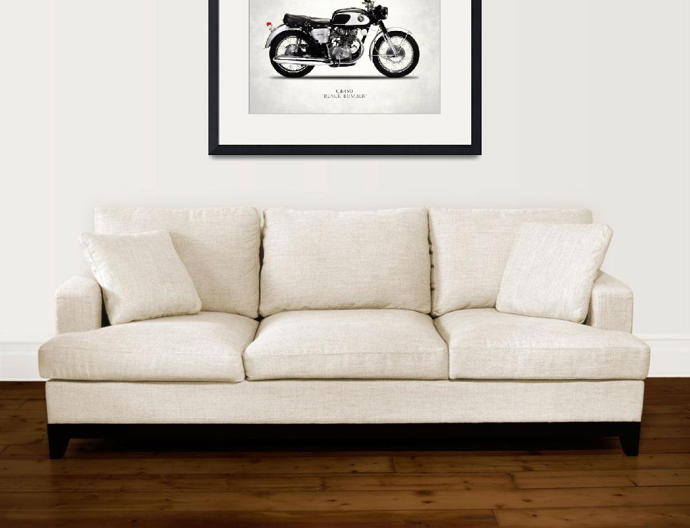 """The Honda CB450 Black Bomber&quot  by mark-rogan"