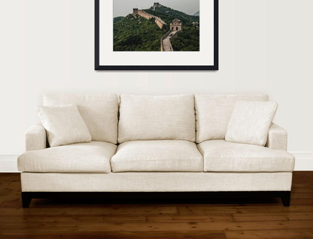 """""""Hazy Great Wall of China&quot  (2015) by StuartSlimpPhotography"""