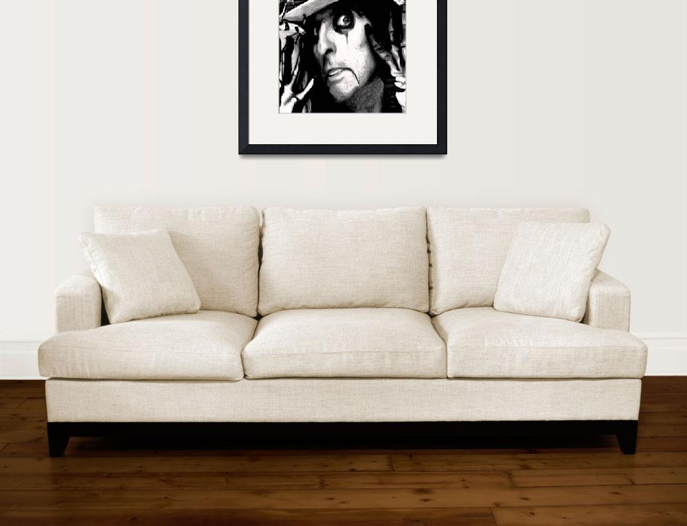 """""""Alice Cooper&quot  (2009) by mobiiart"""
