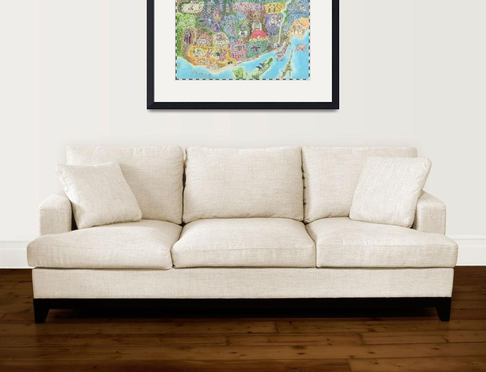 """Map of Toronto 2013 Might and Magic Style Print of&quot  (2013) by catshrine"