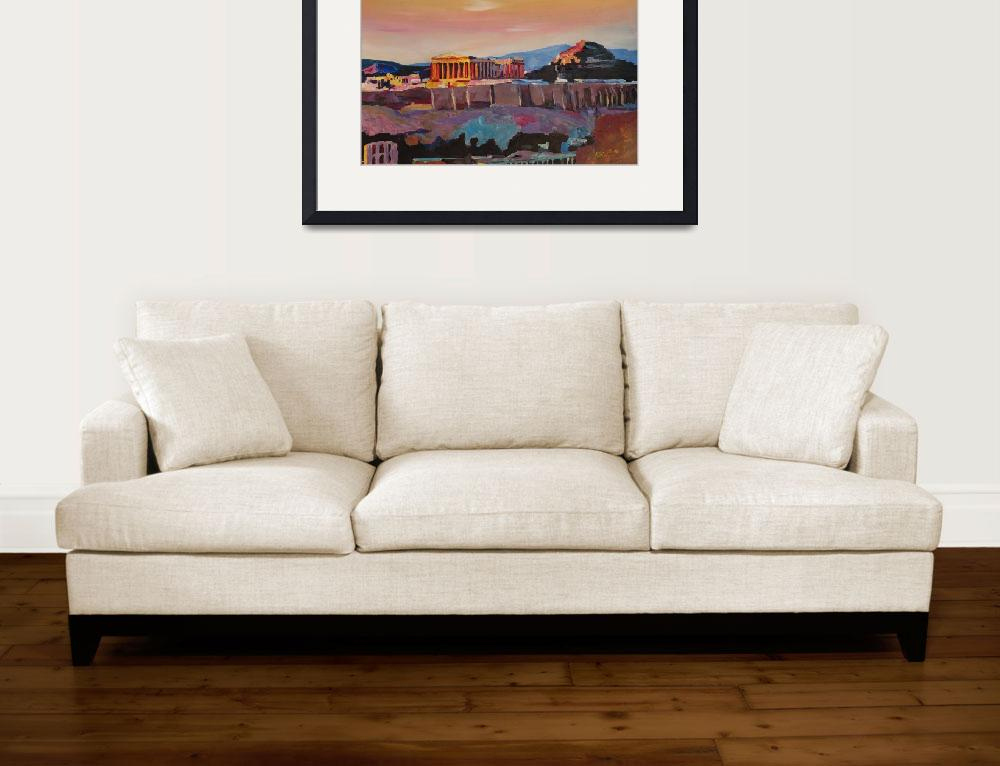 """""""Athens Greece Acropolis At Sunset""""  (2015) by arthop77"""