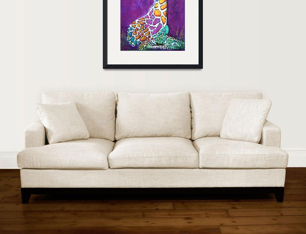 """Giraffe of Many Colors&quot  (2014) by ArtPrints"