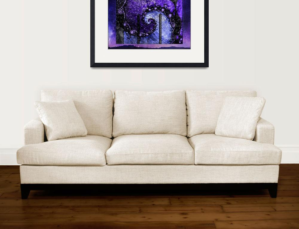"""""""Beautiful Purple Spiral for Nocturne of Scorpio&quot  (2016) by jaya-prime"""