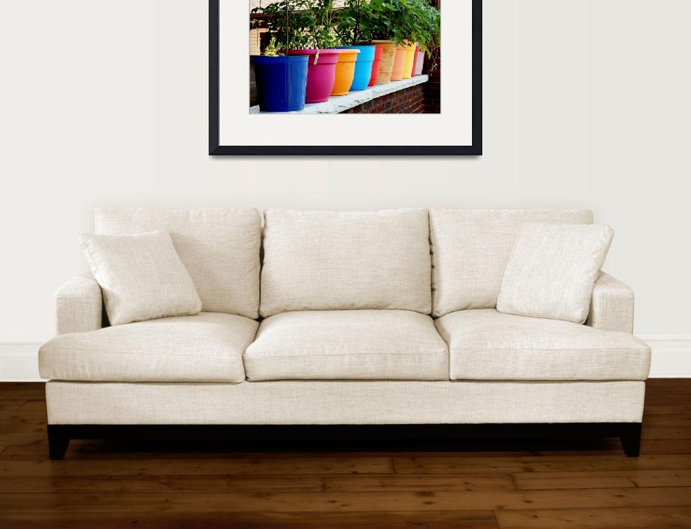 """""""colorful flower pots&quot  (2015) by globetrotter1"""