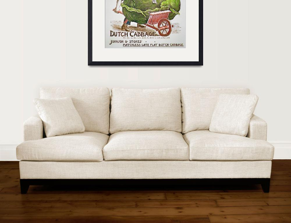 """""""Dutch Cabbage Vintage Advertisement""""  by fineartmasters"""