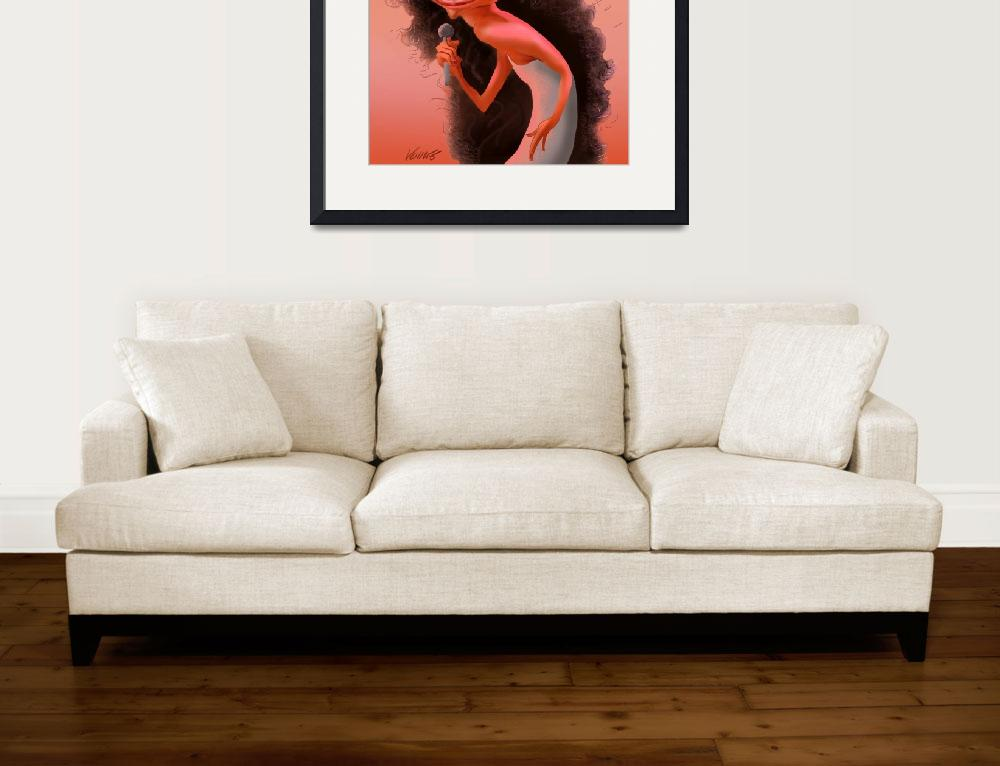 """""""Diana Ross&quot  by VaccaroPrints"""