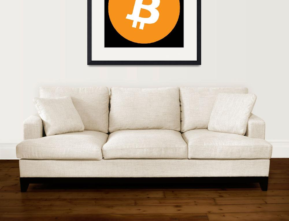 """""""Bitcoin Crypto Currency Logo&quot  (2009) by ArtHistory"""