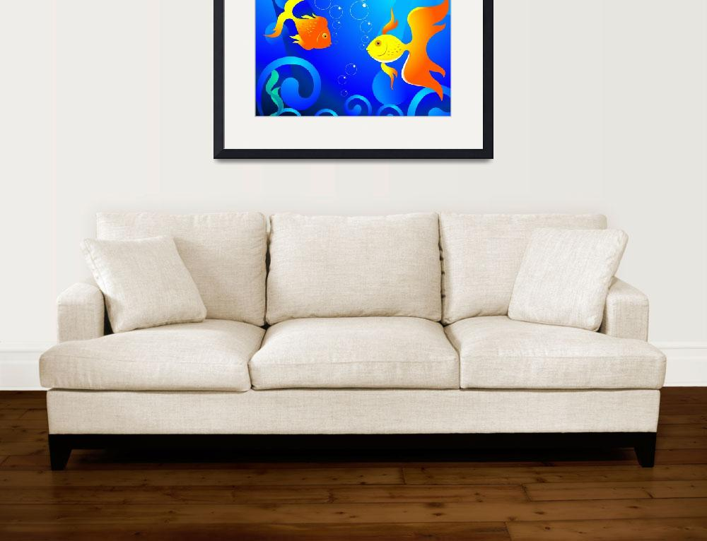 """""""Gold fishes&quot  (2009) by digitalpainting"""