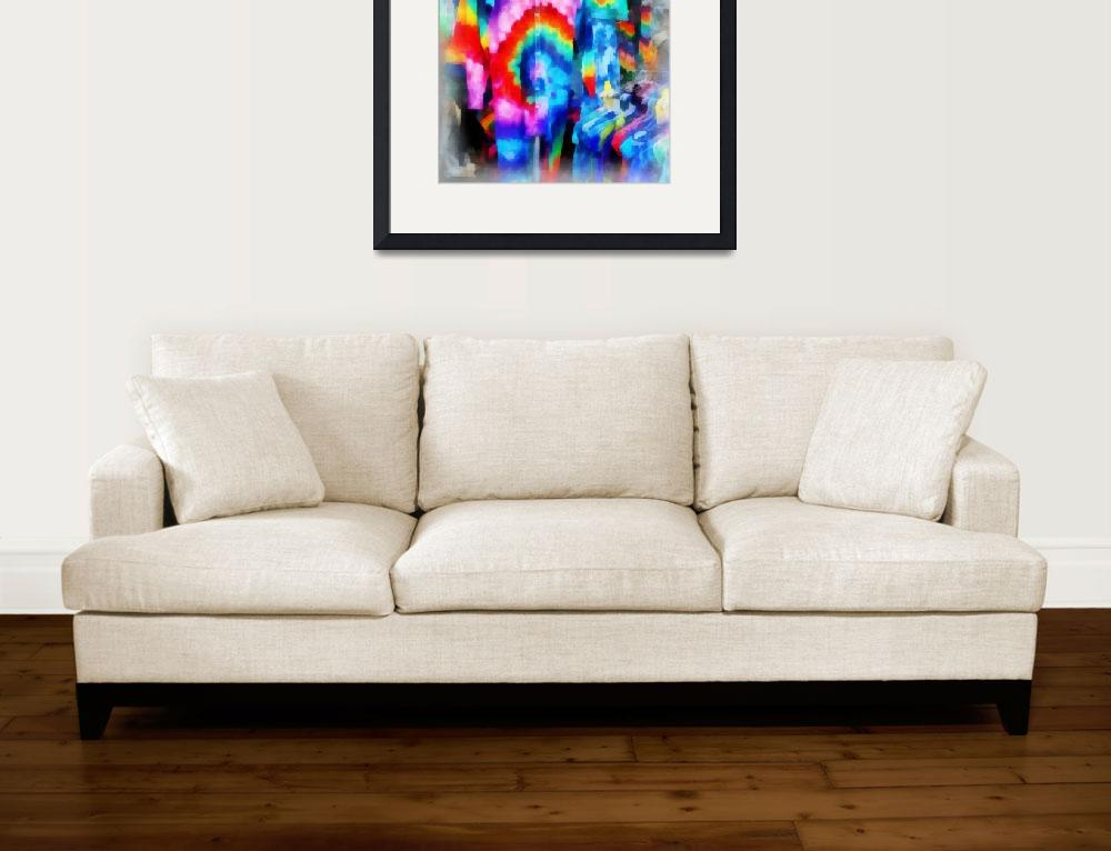 """""""Tie Dyed""""  (2012) by susansartgallery"""