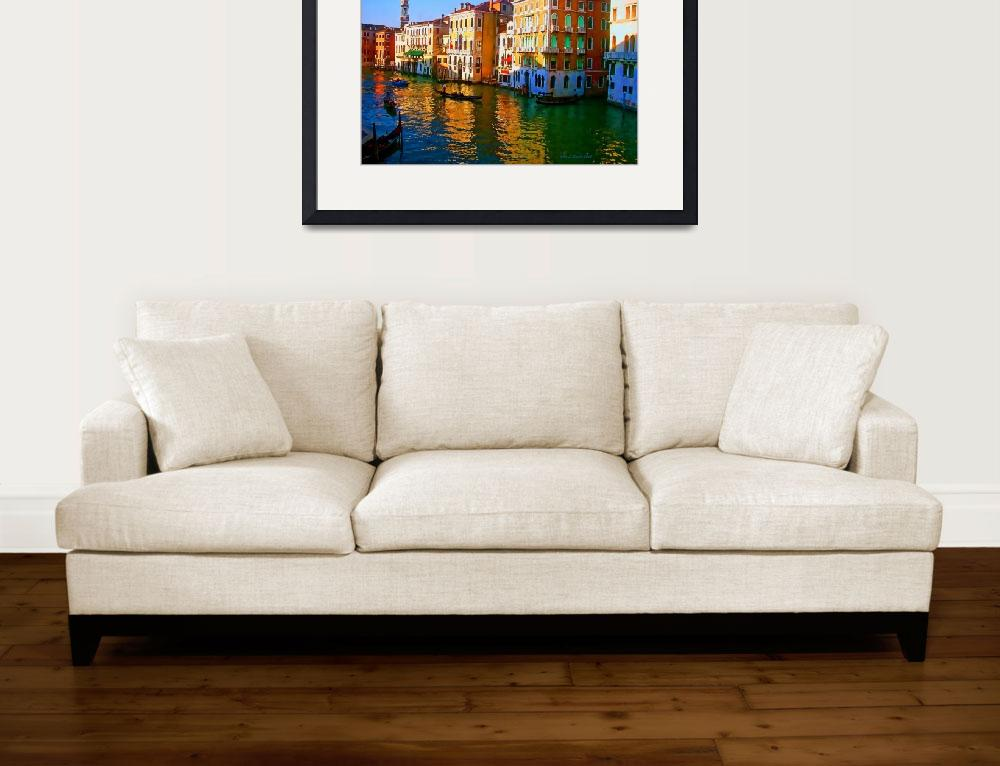 """Venice - Central Canal&quot  (2011) by artstoreroom"