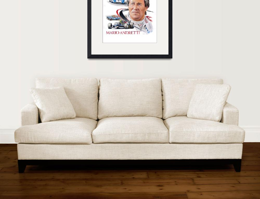 """""""Mario Andretti painting""""  (2013) by ByronChaney"""