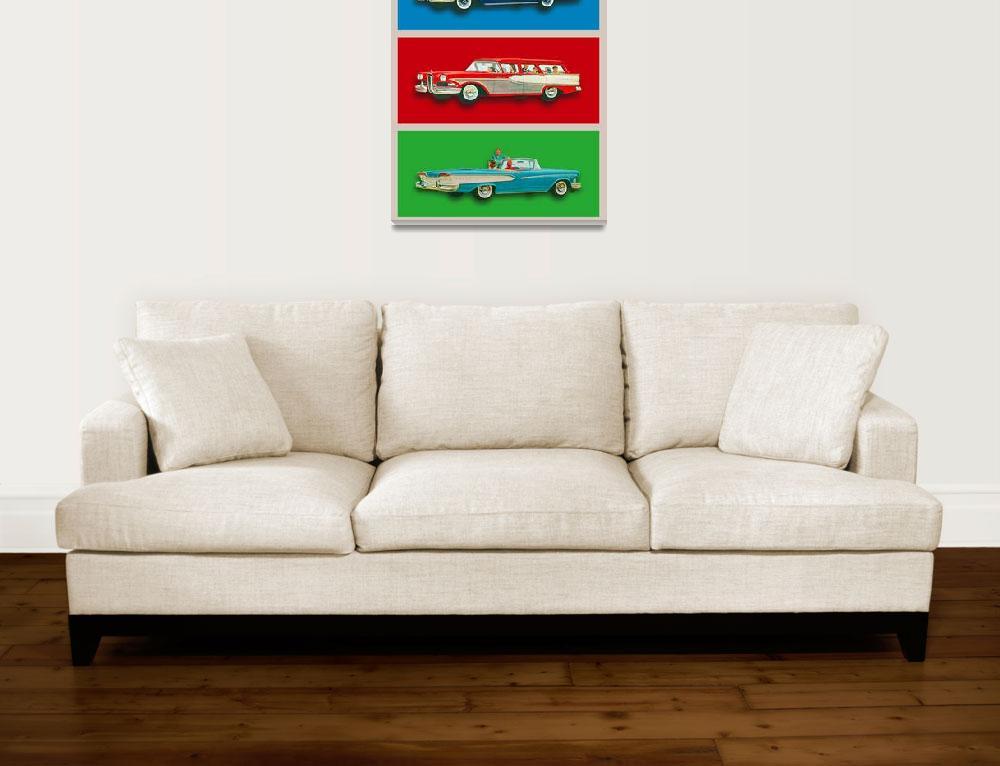 """Edsel Car Advertisement Gray Border""  (2015) by RubinoFineArt"