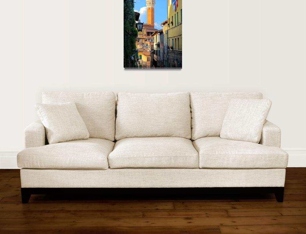 """""""Siena Streets&quot  (2010) by Inge-Johnsson"""