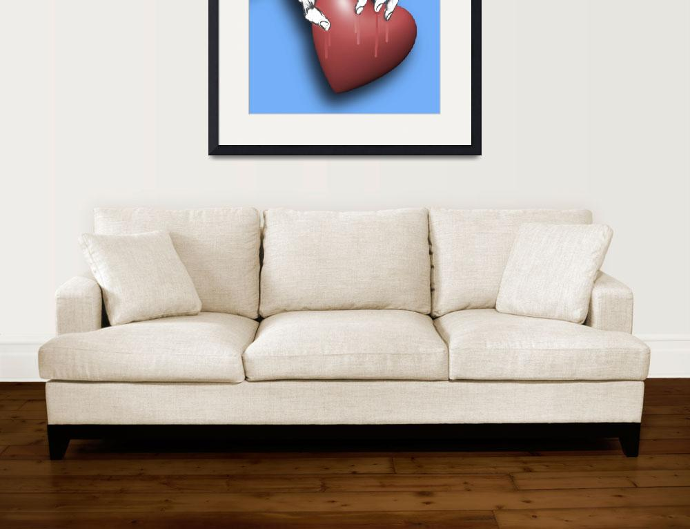 """Heart Series Love Clawed Hearts&quot  (2018) by RubinoFineArt"
