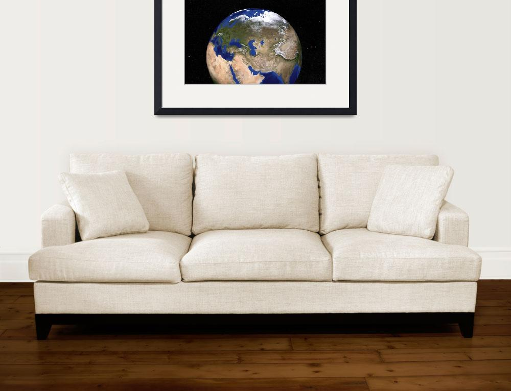 """""""Blue Marble Earth showing the Middle East.&quot  by stocktrekimages"""