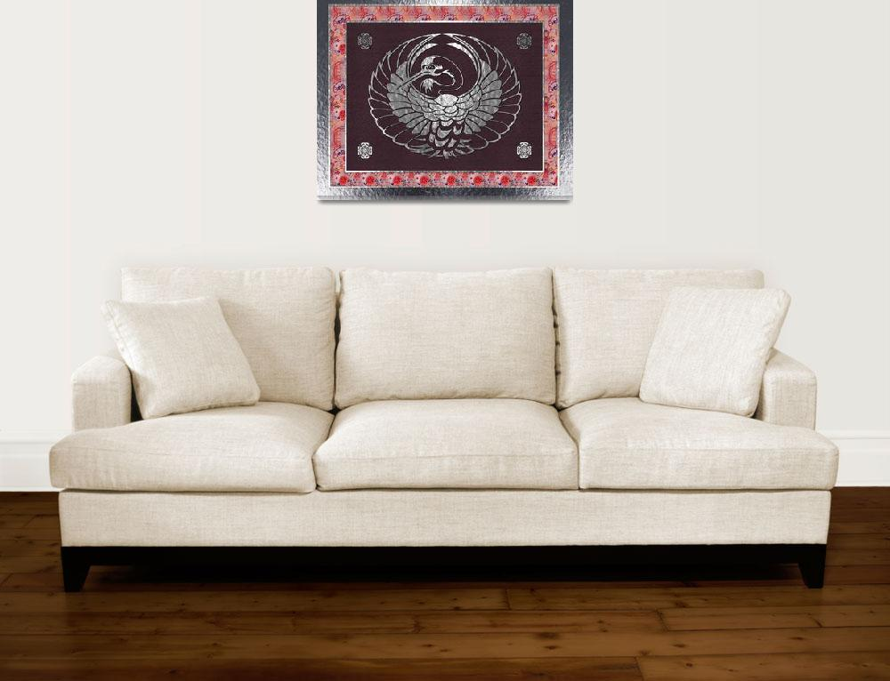 """""""Japanese Swan Traditional Motif 2&quot  (2011) by ReneeLozenGraphics"""