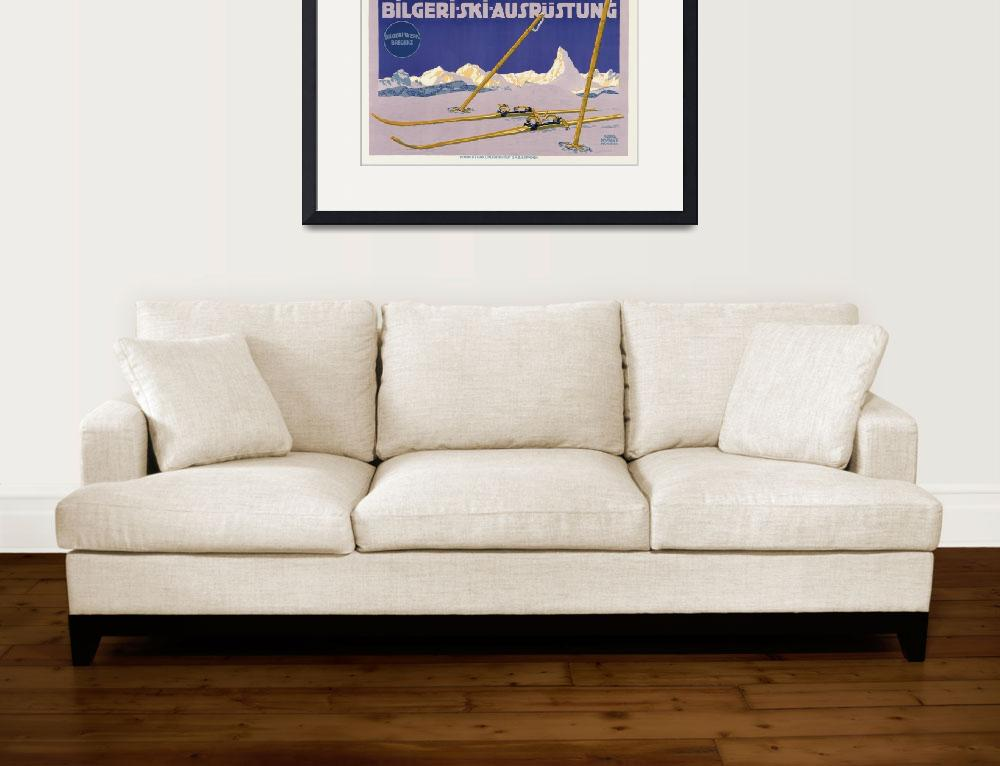 """Carl Kunst Ski Equipment Vintage Poster""  by FineArtClassics"
