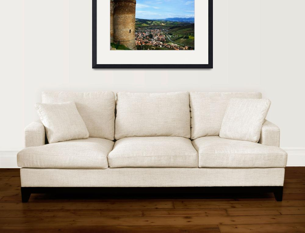 """""""Orvieto view of the Valley&quot  (2006) by ErinKanoa"""