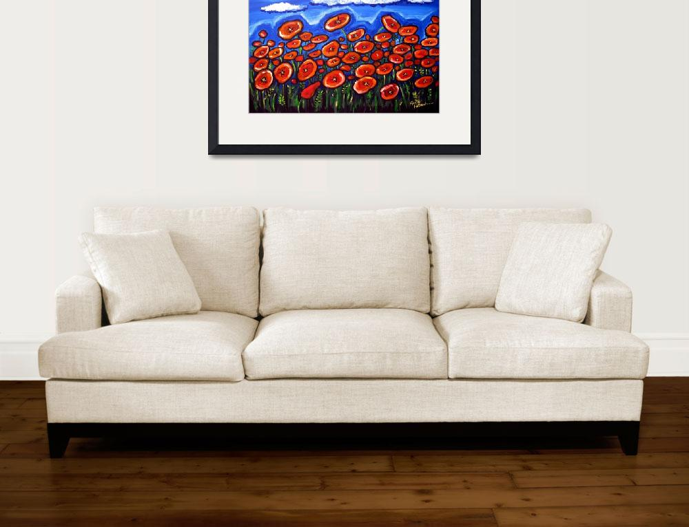 """Field of Red Poppies""  (2011) by reniebritenbucher"