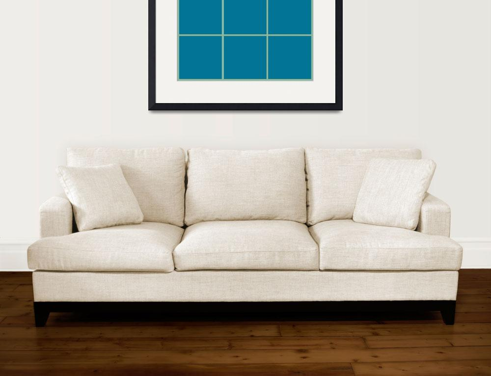 """""""Blue Window 139 Canvas Contemporary Modern&quot  (2010) by Ricardos"""