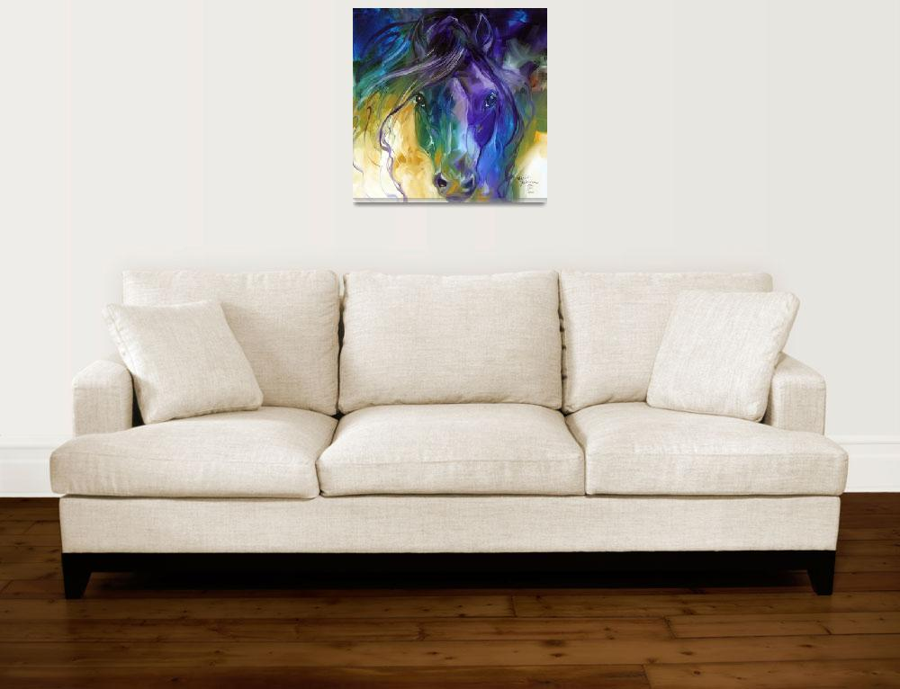 """""""ABSTRACT BLUE ROAN""""  (2011) by MBaldwinFineArt2006"""