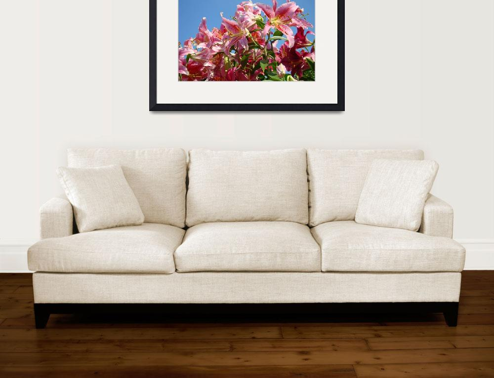 """""""Summer Lily Flowers art prints Floral Garden&quot  (2010) by BasleeTroutman"""