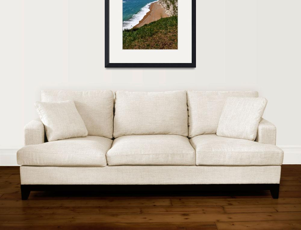 """Beach near Durdle Door, Dorset""  (2012) by pamelamcnamara"