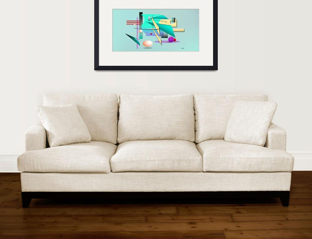 """Abstract Aqua Teal & Green Geometric&quot  (2004) by CherylDaniels"