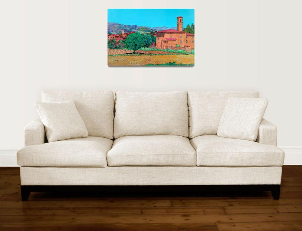 """Tuscan Farm Village""  (2007) by allanfriedlander"