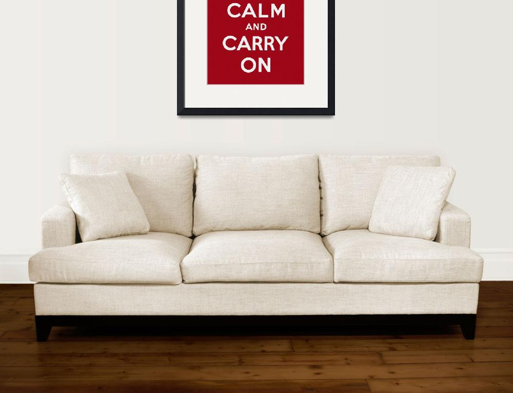 """""""Red Keep Calm And Carry On 1&quot  by oldies"""