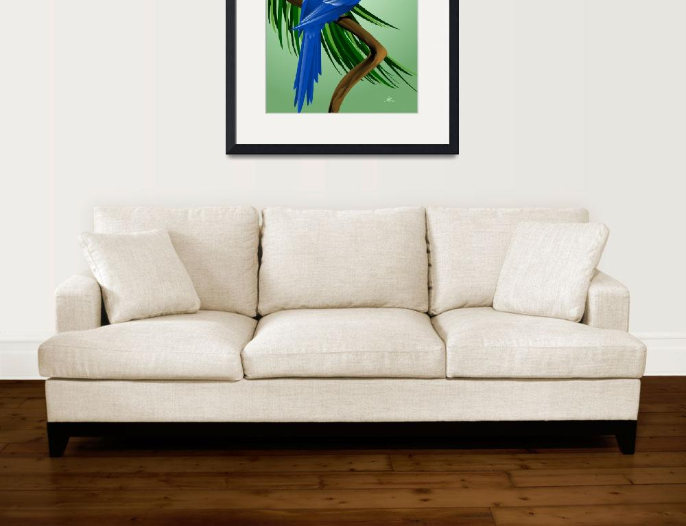 """""""Hyacinth Macaw&quot  (2014) by waterart"""