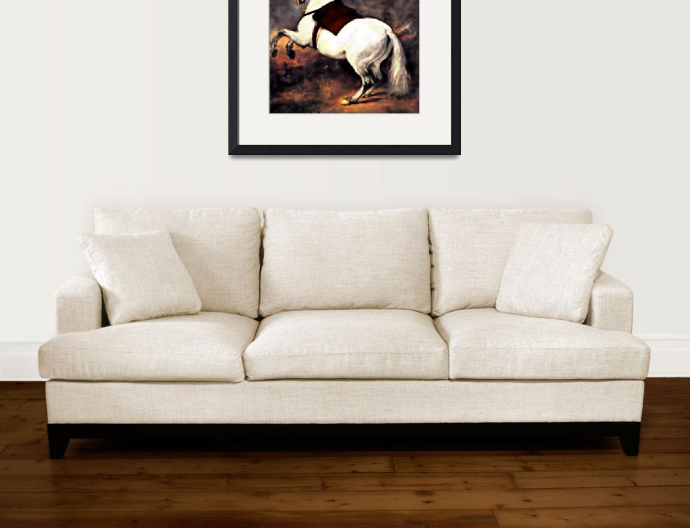 """""""A White Horse&quot  (2010) by bandtdigitaldesigns"""
