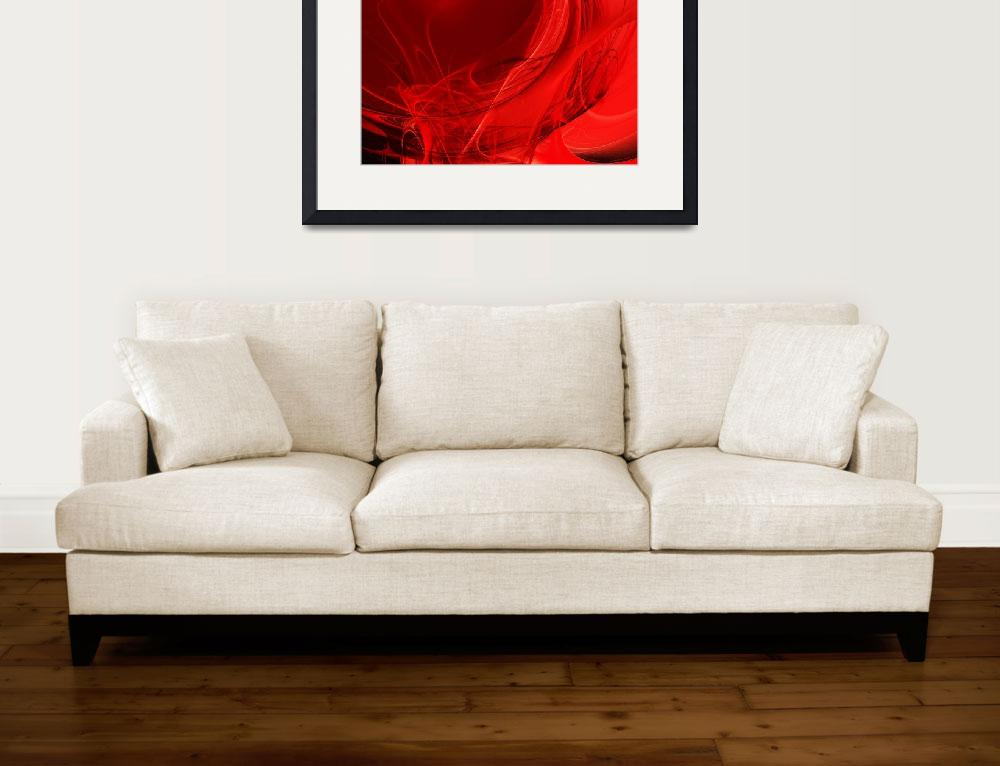 """""""Red Love . Square . A120423.279&quot  by wingsdomain"""