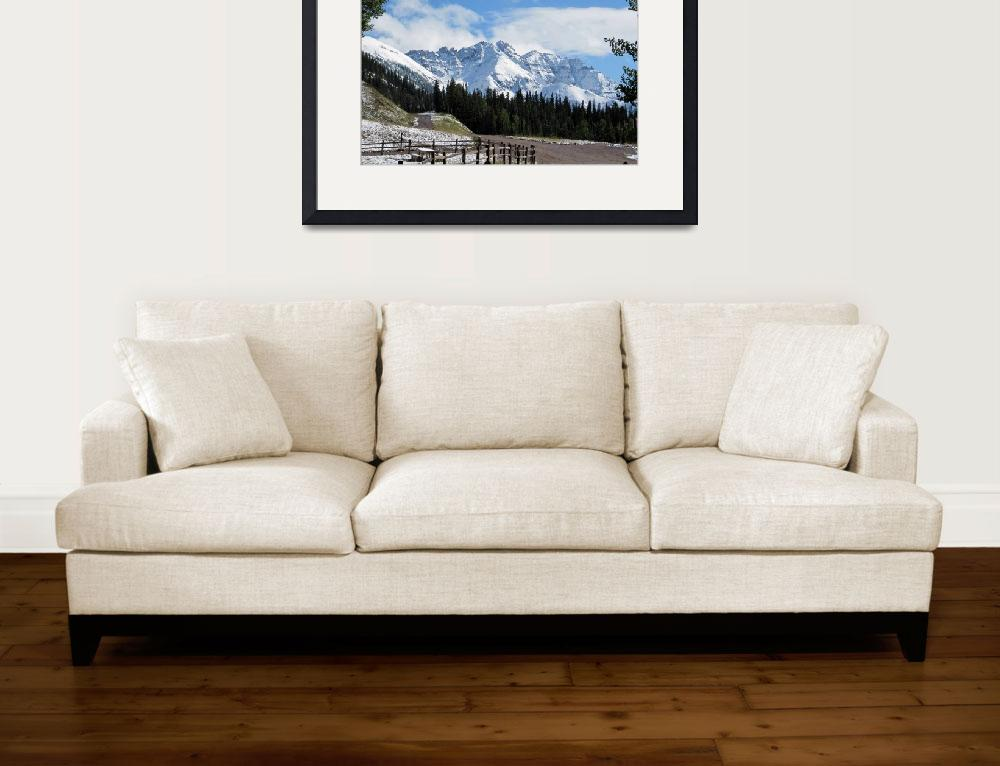 """""""Snow-capped Peaks&quot  (2012) by ethought"""