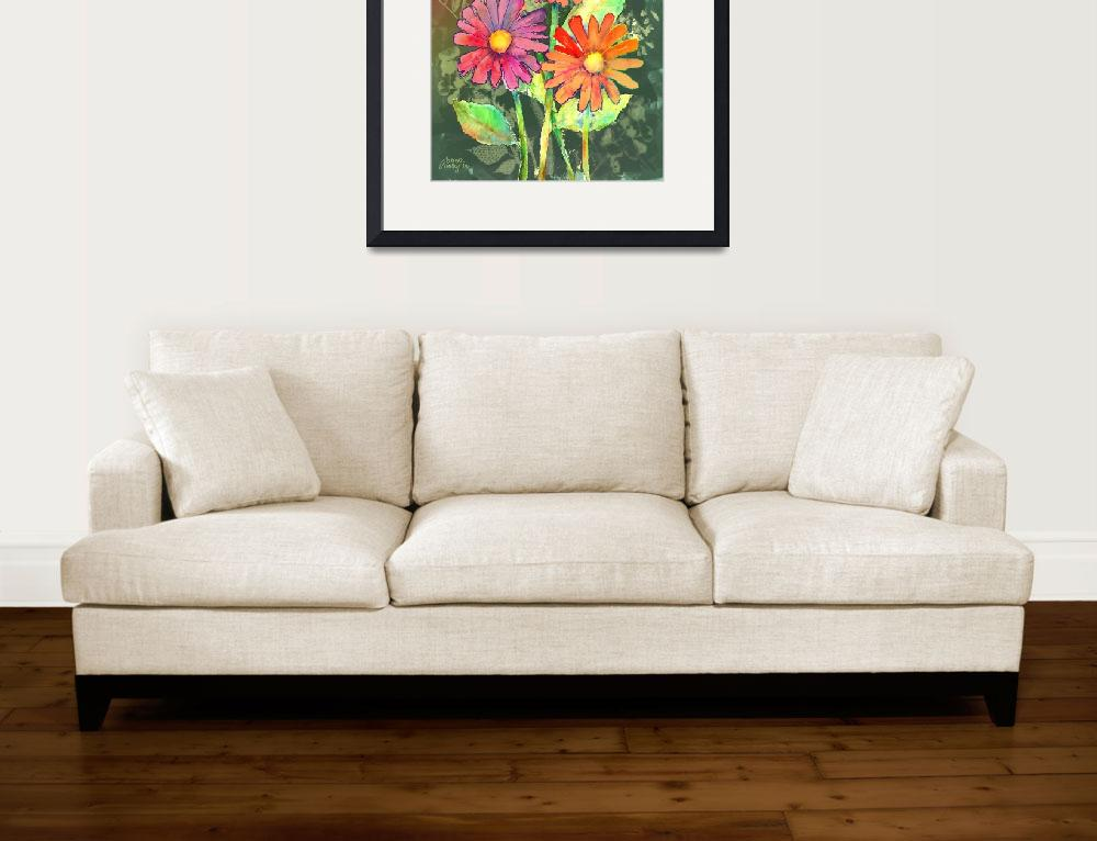 """""""Vibrant Flowers""""  (2011) by awagner"""