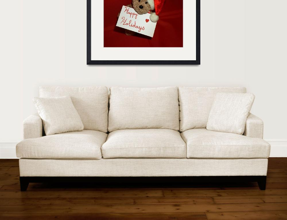 """""""Happy holidays Christmas bear&quot  (2009) by Albertphoto"""