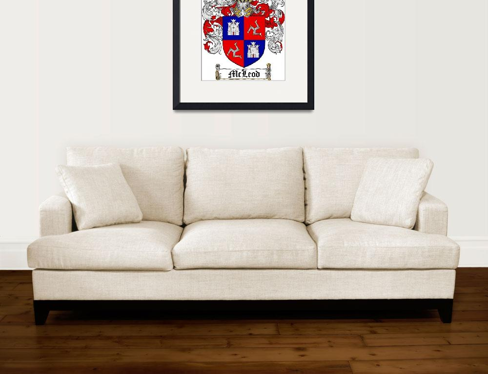 """""""MCLEOD FAMILY CREST - COAT OF ARMS&quot  by coatofarms"""