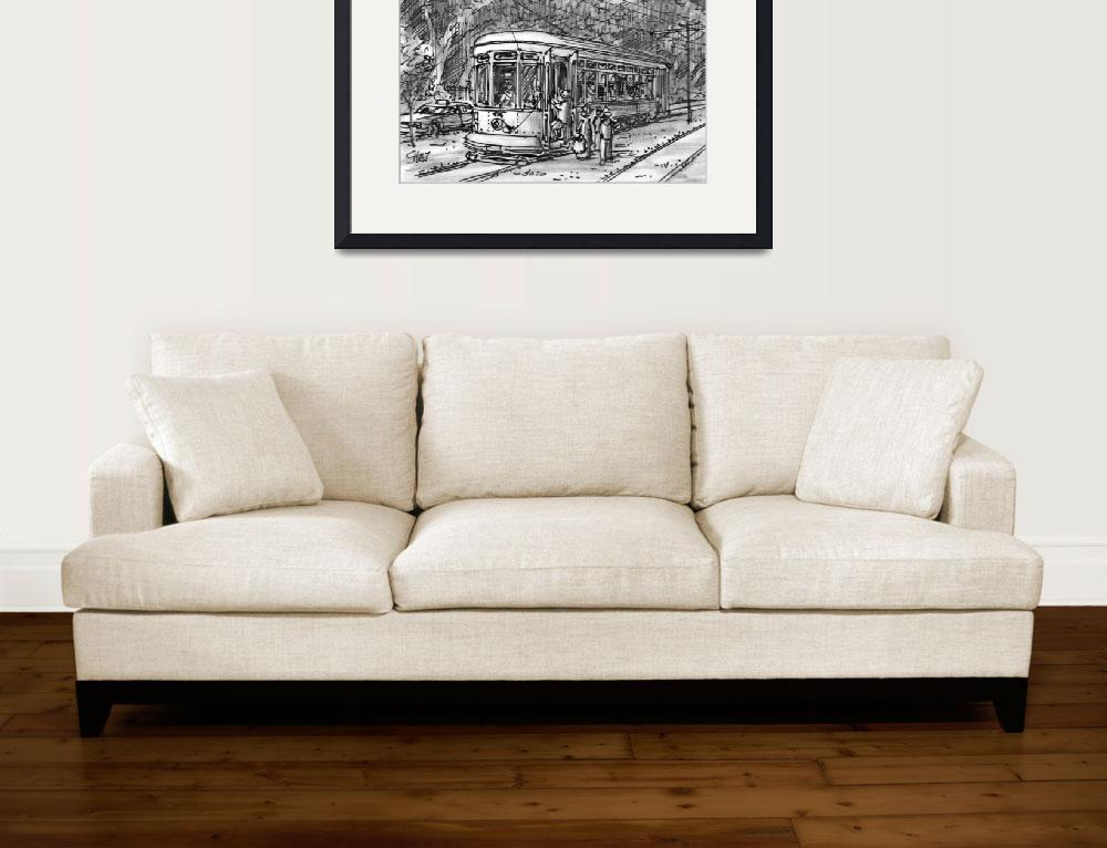"""""""St. Charles Ave. Streetcar&quot  (2011) by ChrisHolt"""