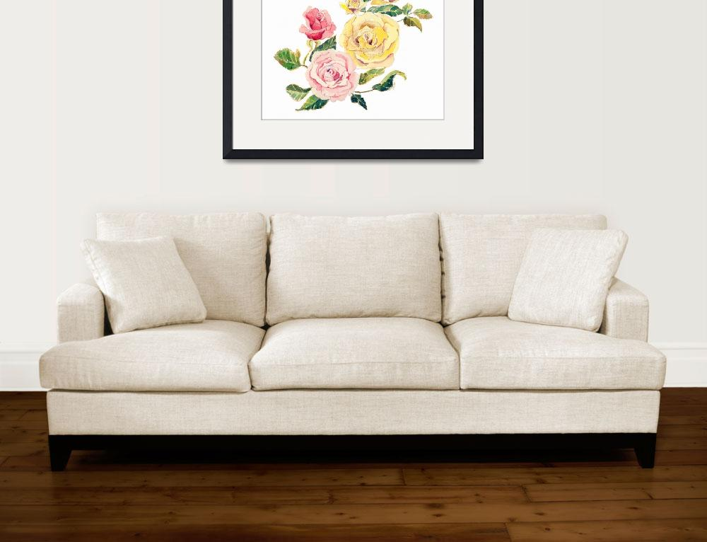 """""""Pastel Roses&quot  by awagner"""