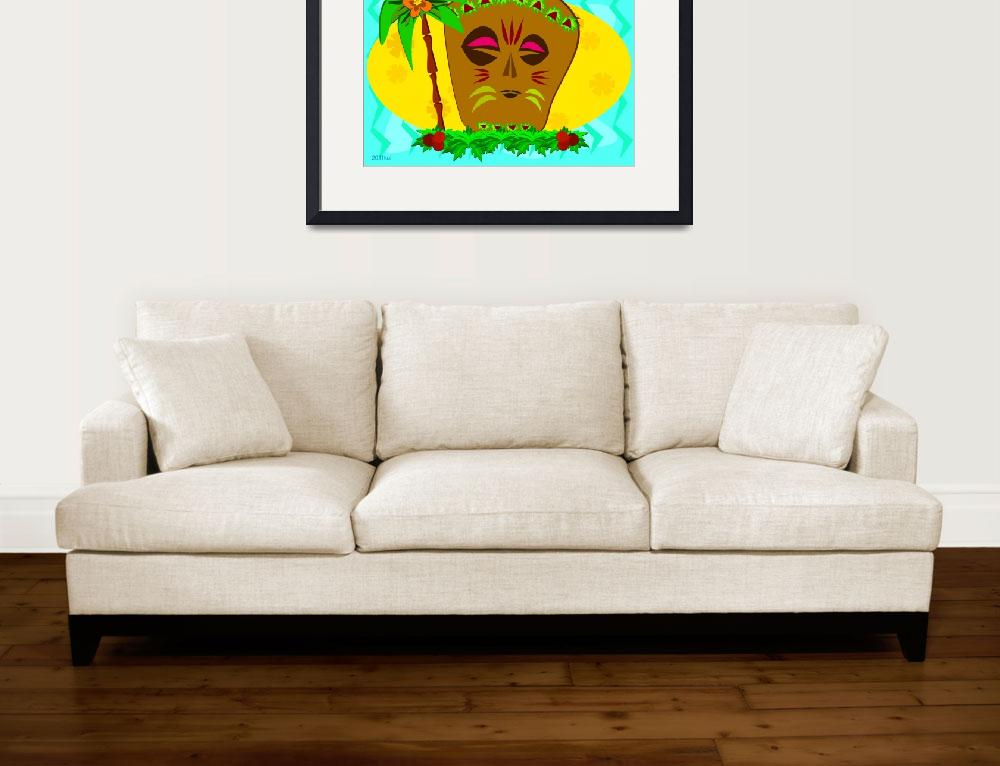 """""""Resting Tiki&quot  (2011) by theblueplanet"""